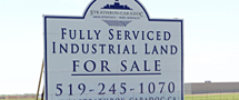 Land sale sign